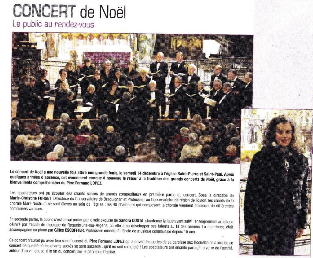 Concert Roquebrune dec 2013